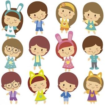 Cute dzieci charakter
