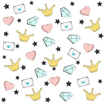 Cute gwiazdy tła, ilustracji w formacie wektorowym