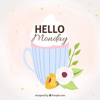 Cute hello poniedziałek tła