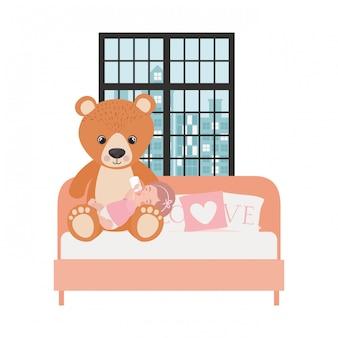 Cute little baby girl w charakterze sypialni