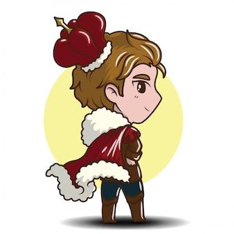 Cute little boy noszenie króla., cartoon bajki