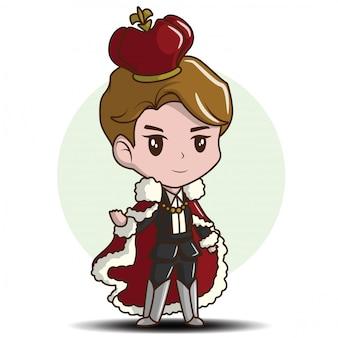 Cute little boy noszenie króla ilustracji