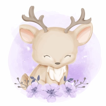 Cute little drogi zwierząt ilustracja