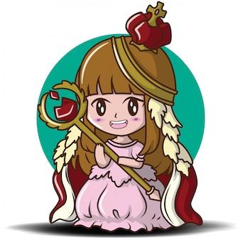 Cute little girl noszenie królowej