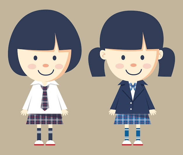 Cute little girl noszenie mundurek szkolny