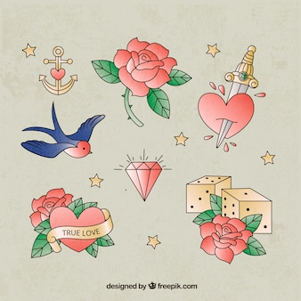 Cute opakowanie romantycznych tatuaży