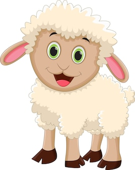 Cute owiec kreskówka