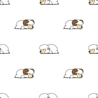 Cute owiec spania wzór