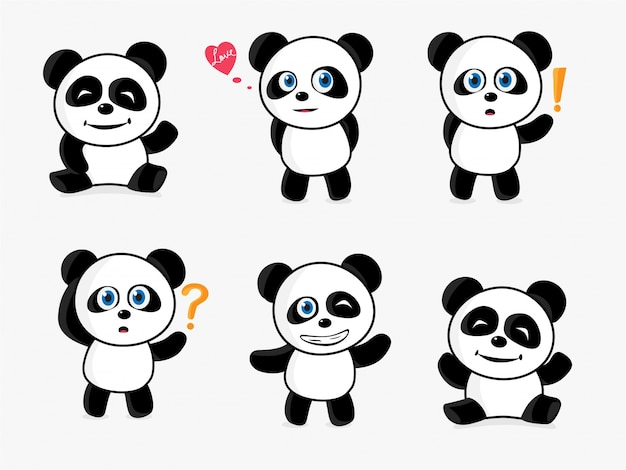 Cute panda maskotka