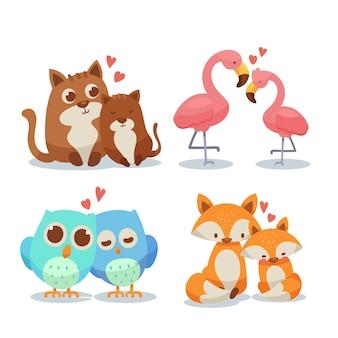Cute para zwierząt walentynki