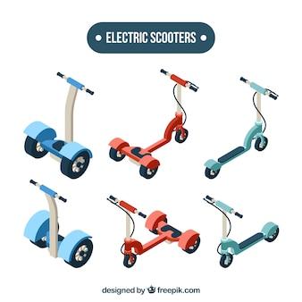 Cute różnych elektronicznych skuterów