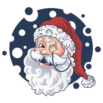 Cute santa face vector design
