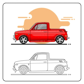 Cute truck easy editable
