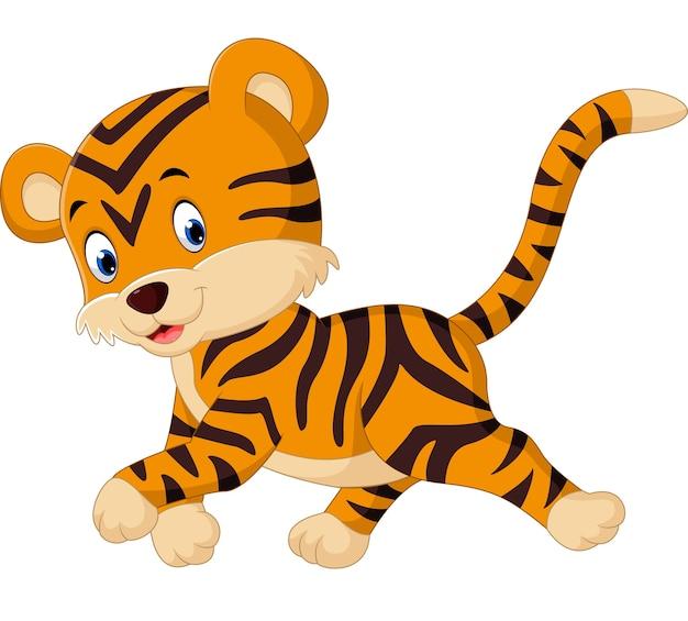 Cute tygrys kreskówka