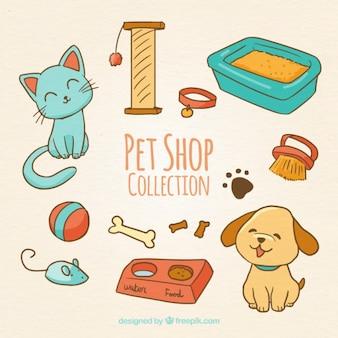 Cute zwierząt z akcesoriami