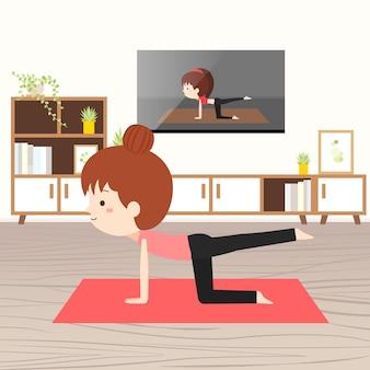 Ćwiczenia w domu koncepcja