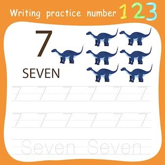 Ćwiczenie ćwiczenie pisania numer siedem