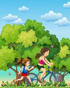 Ćwiczenie matki i córki