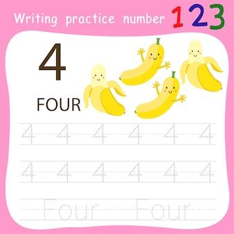 Ćwiczenie pisania numer cztery