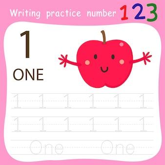 Ćwiczenie pisarskie numer jeden