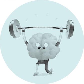 Ćwiczy mózgową aktywność mózgu.