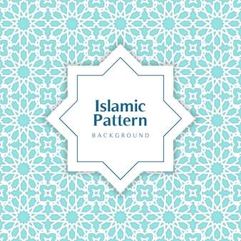 Cyan klasyczny islamski wzór bez szwu