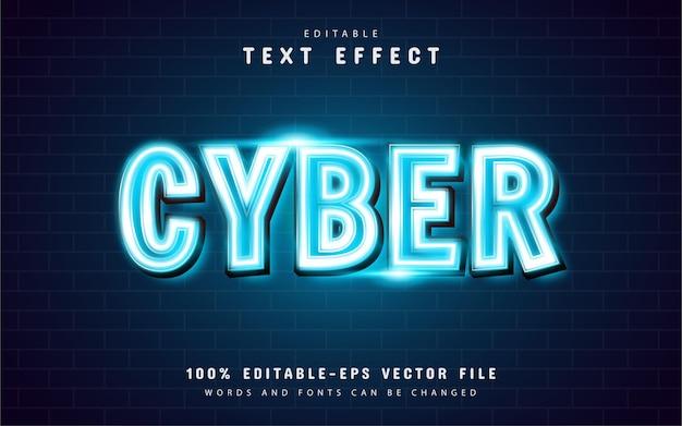 Cyber efekt tekstu neonowego