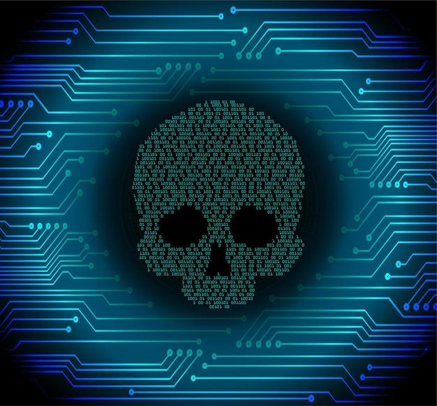 Cyber haker atak tło wektor czaszki