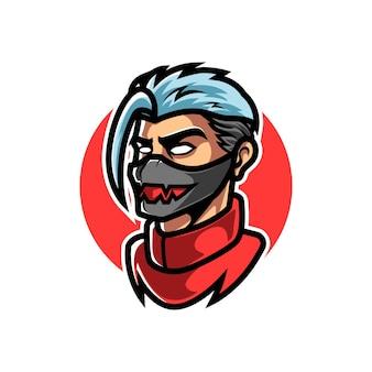 Cyber man head sport logo