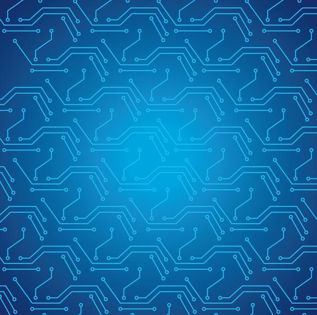 Cyber obwód elektroniczny wzór tła ilustracji projektowania