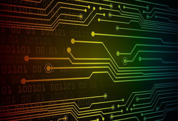 Cyber obwód przyszłości koncepcja technologia tło