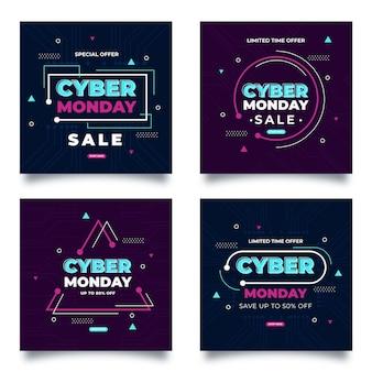 Cyber poniedziałek kolekcja postów na instagramie
