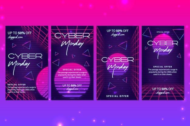 Cyber poniedziałek kolekcja postów