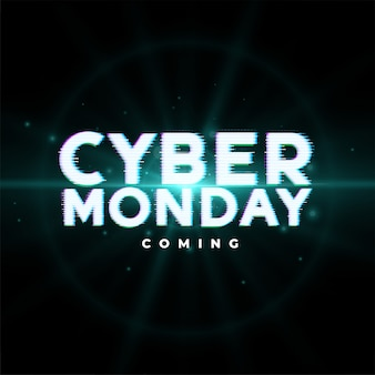 Cyber poniedziałek nadchodząca sprzedaż banner projektu zdarzenia