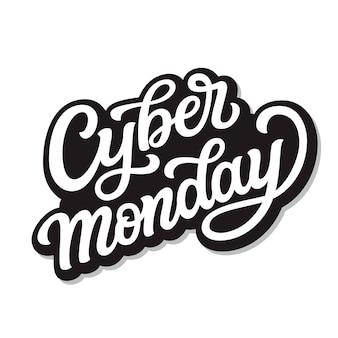 Cyber poniedziałek. napis odręczny