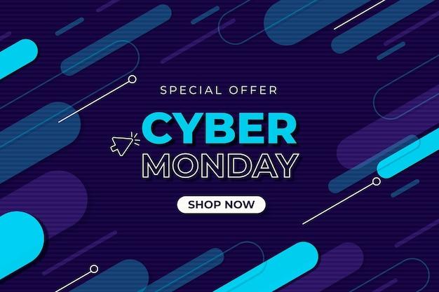 Cyber poniedziałek płaska oferta oferuje baner