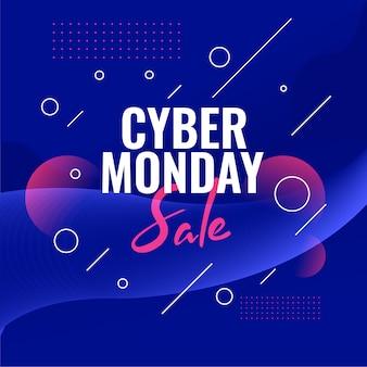 Cyber poniedziałek sprzedaż baner rabatowy na zakupy online