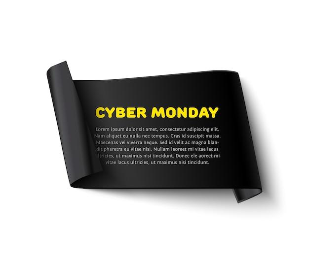 Cyber poniedziałek sprzedaż banner