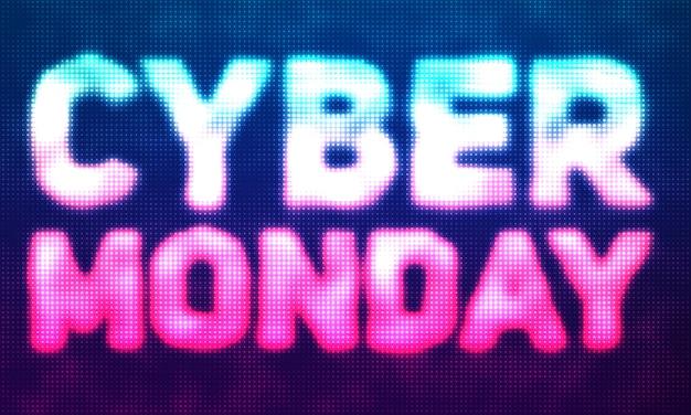Cyber poniedziałek sprzedaż tło z błyszczącymi kropkami.