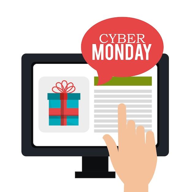 Cyber poniedziałek strony sklep z ekranem dotykowym