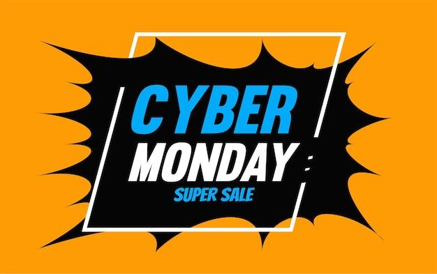 Cyber poniedziałek super szablon tła sprzedaży