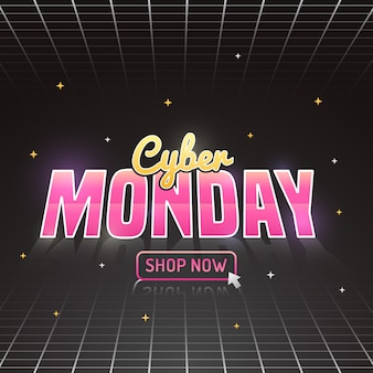 Cyber poniedziałek w futurystycznym stylu