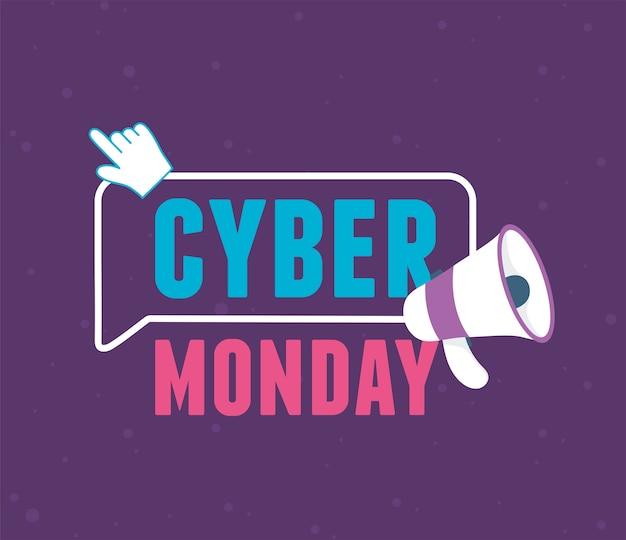 Cyber poniedziałek, wirtualny e-commerce za pomocą megafonu