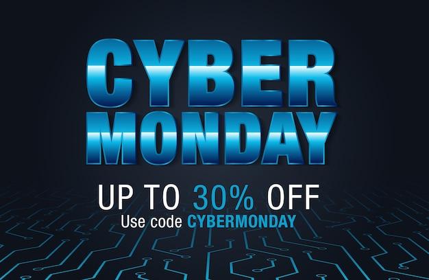 Cyber poniedziałkowe tło sprzedaży dla promocji dobrej oferty