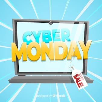Cyber poniedziałku koncepcja z komputerem