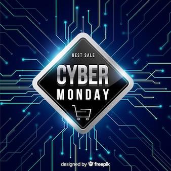 Cyber poniedziałku koncepcja z realistycznym tłem