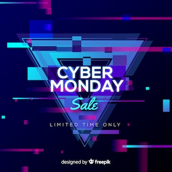 Cyber poniedziałku sprzedaży tła neonowy styl