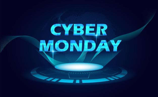 Cyber poniedziałku tło
