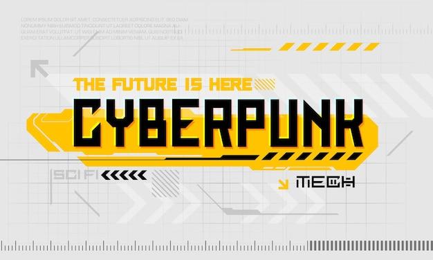 Cyber punk nowoczesne elementy interfejsu użytkownika futurystyczny abstrakcyjny hud