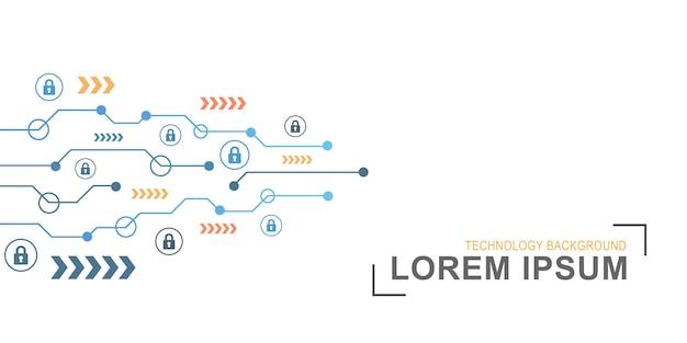 Cyber security koncepcja streszczenie technologia tło